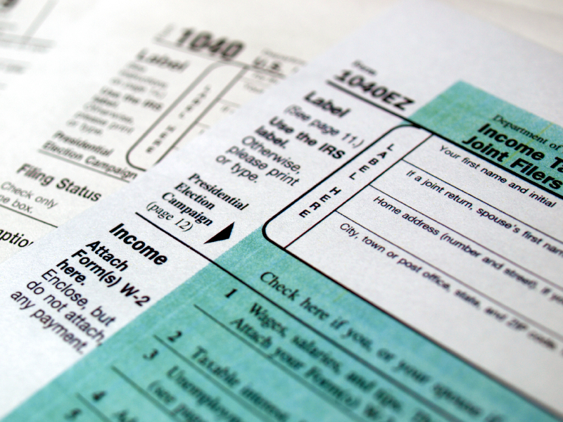 federal government income tax forms 2017