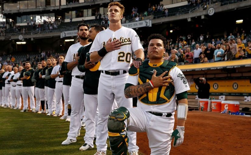 MLB player who knelt during anthem has been arrested for aggravatedassault