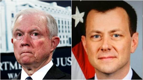 Paging Jeff Sessions! DOJ STILL withholding majority of 'missing' texts exchanged between anti-Trump FBI lovers Strzok andPage