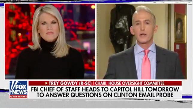 Gowdy to Mueller: 'Don't build case' against TRUMP based on Steve Bannon statements(Video)