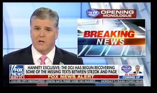 Hannity warns: 'Just a SLIVER' of DEEP STATE corruption has come out so far (Video)