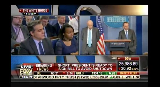 CNN whiner Jim Acosta completely SCHOOLED at White House presser by Budget Director Mulvaney(Video)