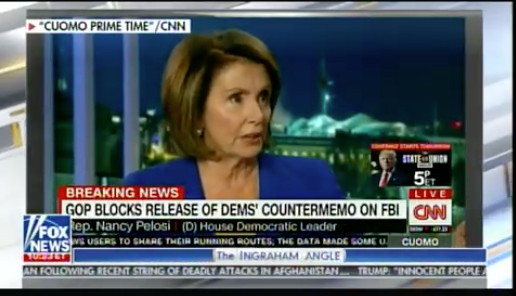 Poor Nancy Pelosi MELTS DOWN over GOP decision to release the FISA memo; goes off on CNN's Chris Cuomo(Video)