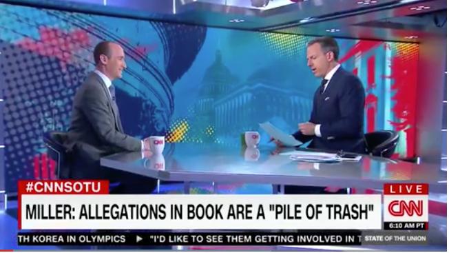 FIREWORKS! Prez advisor Stephen Miller SCHOOLS CNN's Jake Tapper in fiery interview(Video)