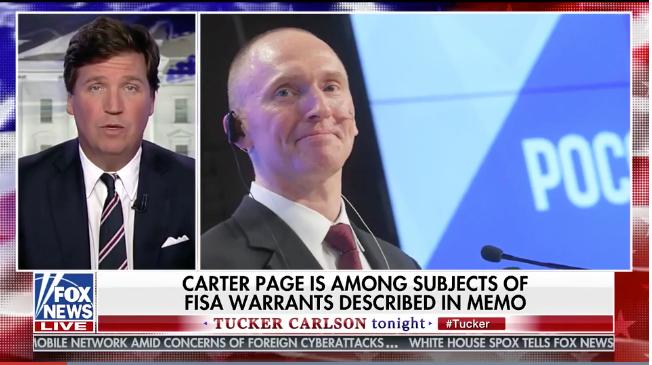 Tucker: Andrew McCabe under DOJ investigation; mentioned in FISAMEMO