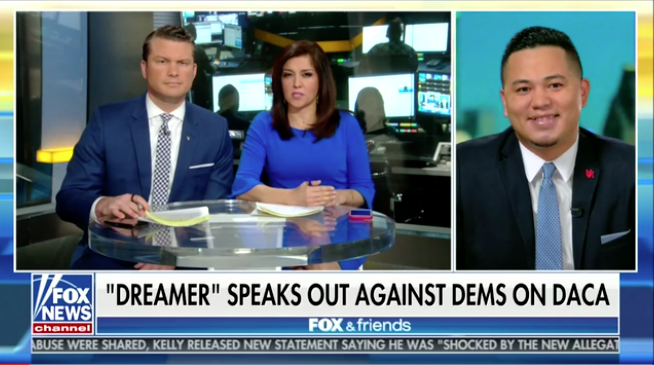 Dreamer to DEMS: 'Stop using us a PAWNS' as he praises TRUMP's immigration leadership